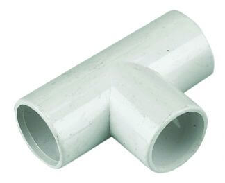 Polypipe Overflow Condense Coupler Socket 21.5mm Solvent Weld In White