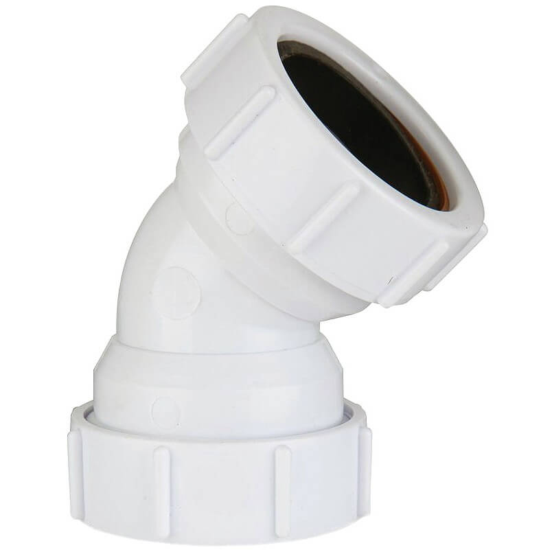 NEW Push Fit Bend 40mm 135° White plumbing Waste pipe  Each